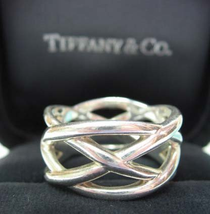 2040: Sterling Silver Tiffany & Co. Openwork Ring