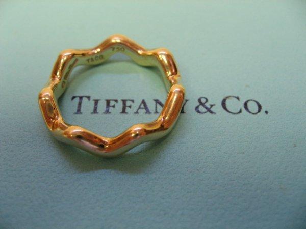 2043: 18k Yellow Gold Tiffany & Co. Zigzag Ring