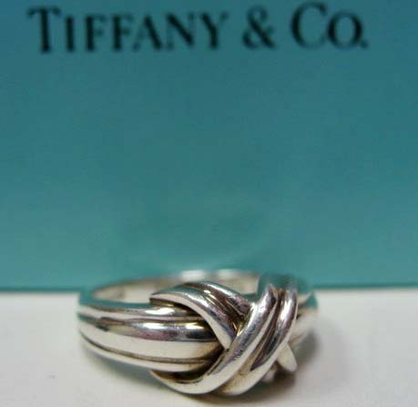 2046: Sterling Silver Tiffany & Co. Signature Ring