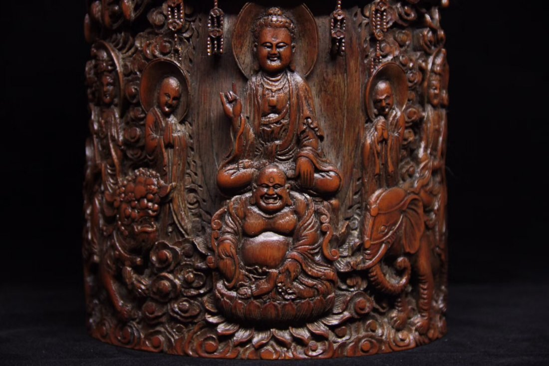 BAMBOO CARVED PENPOT - 2