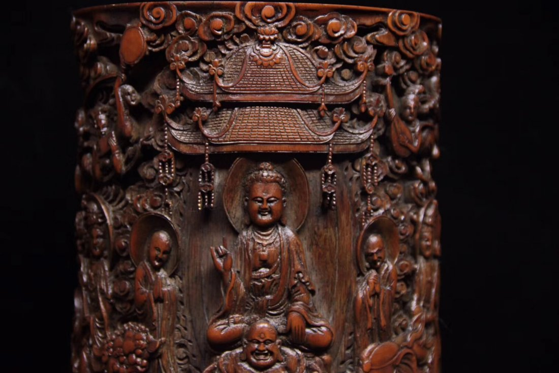 BAMBOO CARVED PENPOT - 3