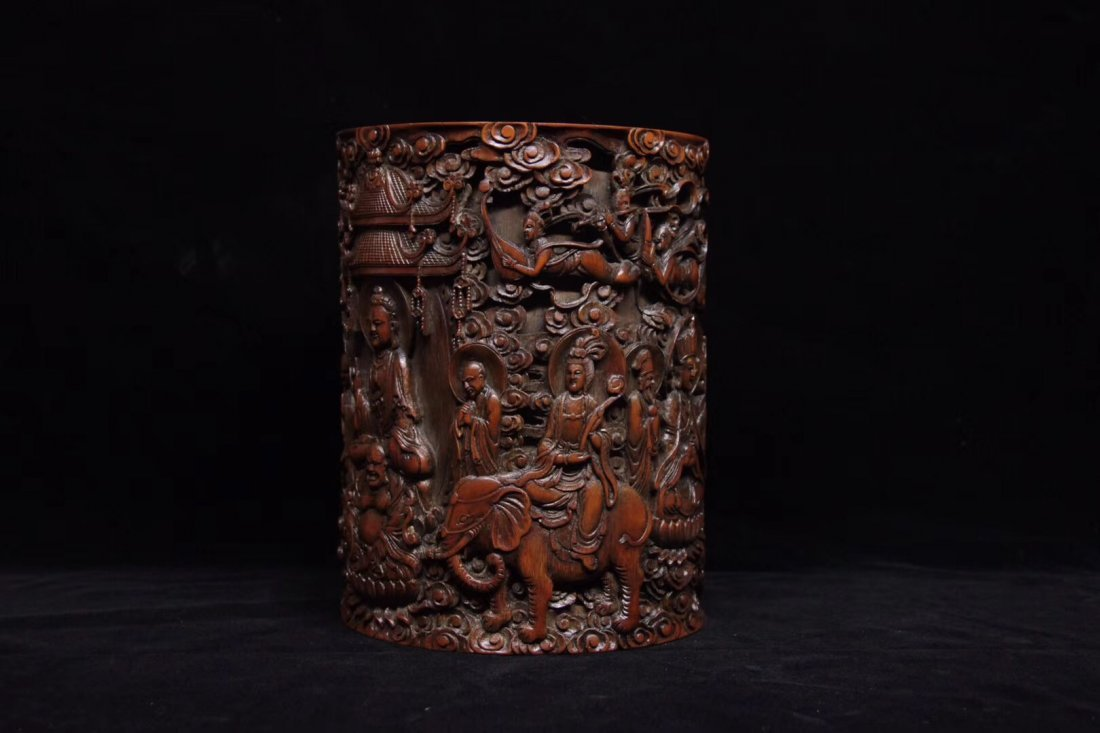 BAMBOO CARVED PENPOT - 4