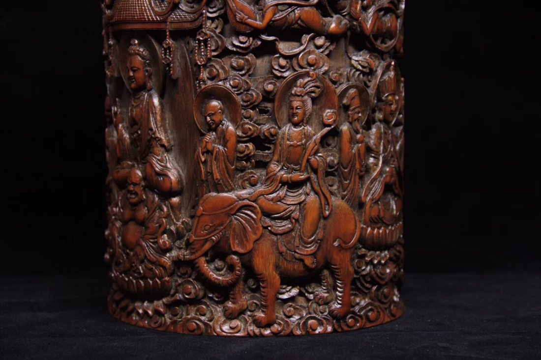 BAMBOO CARVED PENPOT - 5