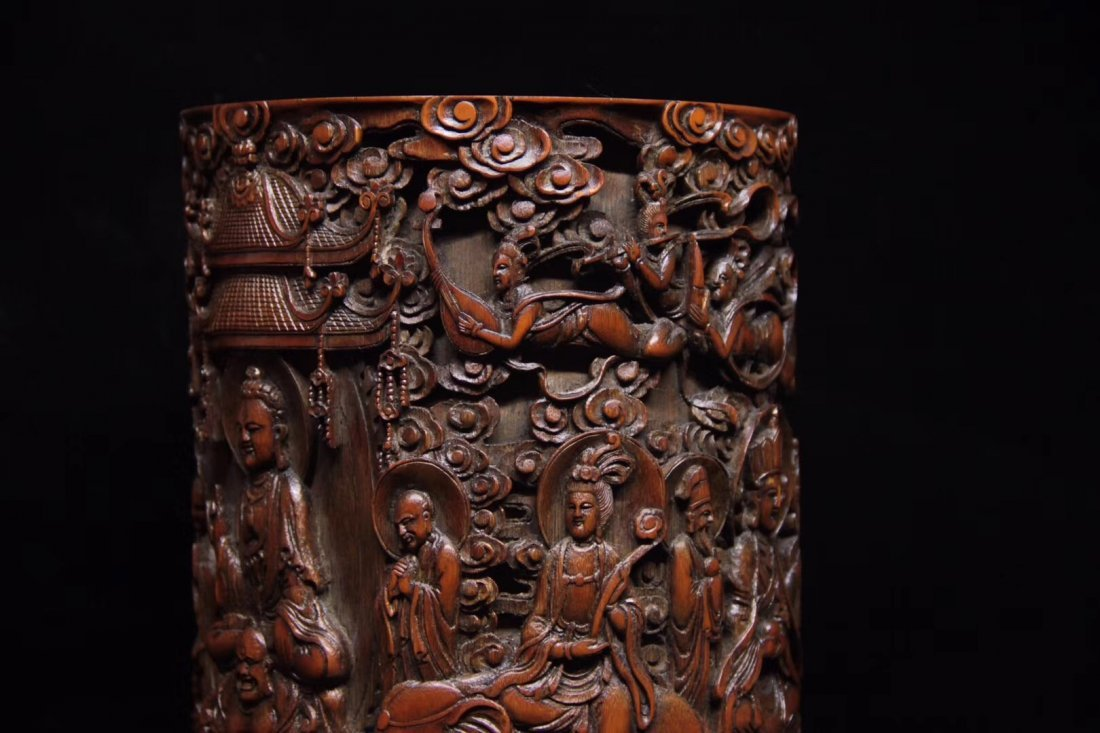 BAMBOO CARVED PENPOT - 6