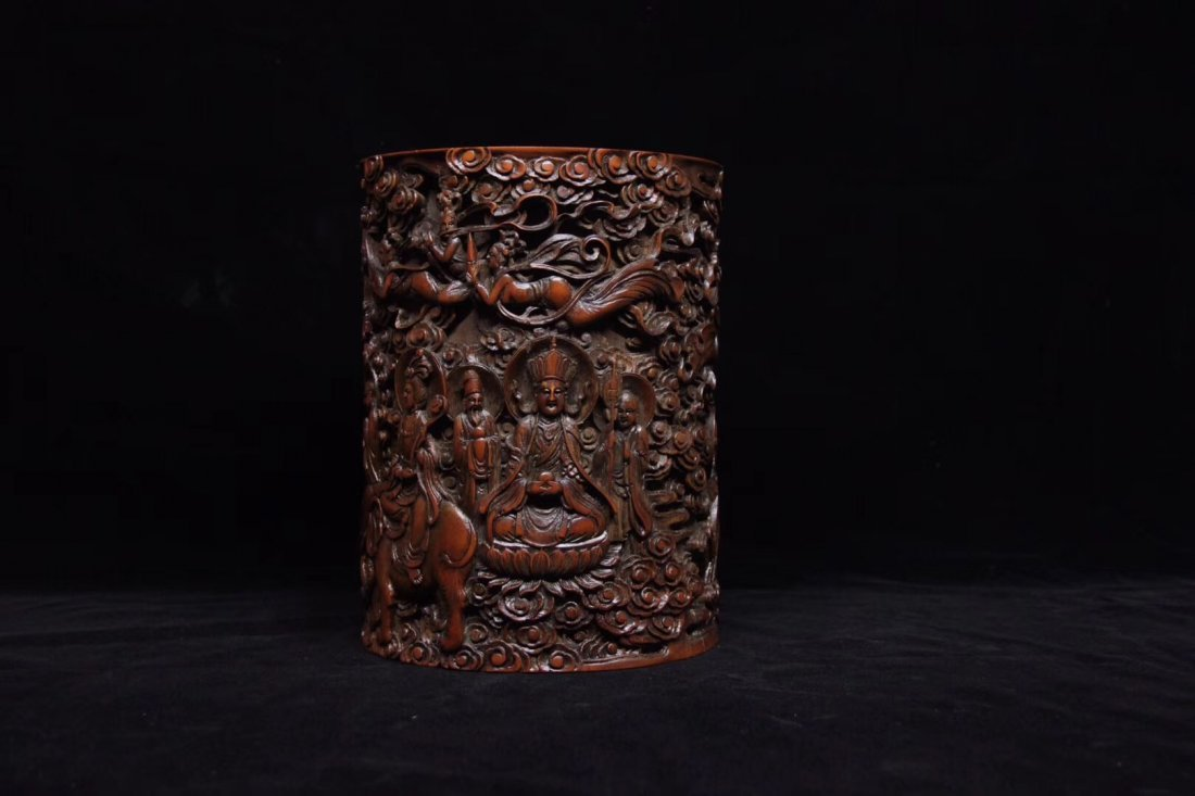BAMBOO CARVED PENPOT - 7