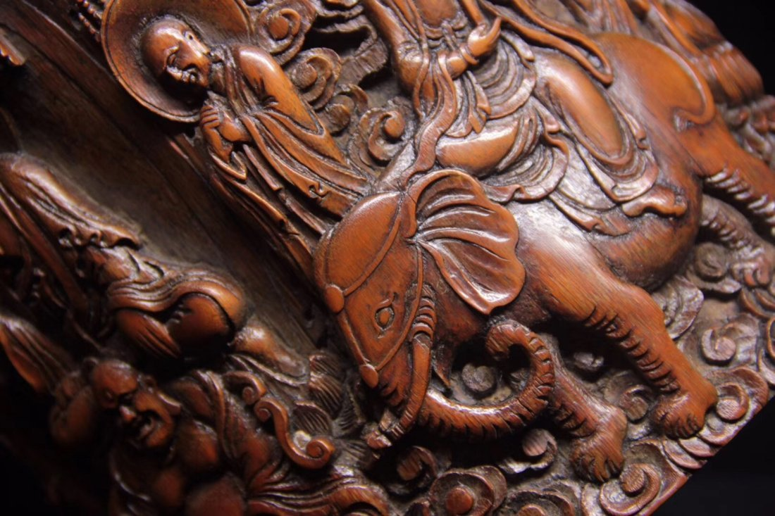 BAMBOO CARVED PENPOT - 8