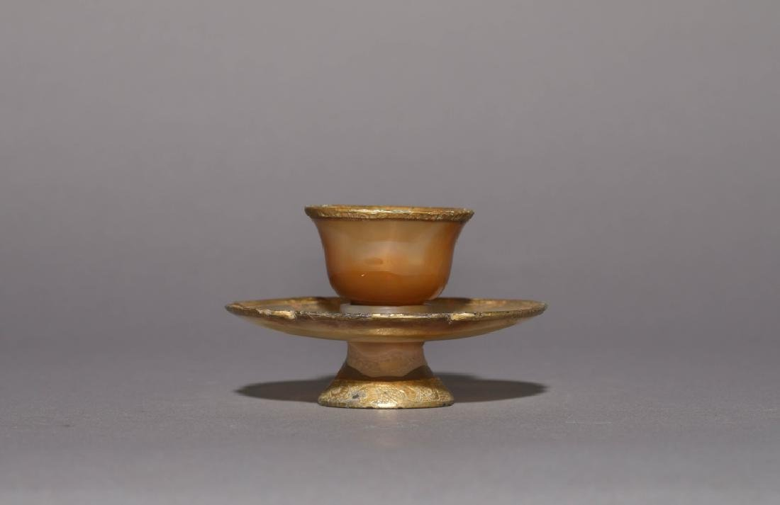 GOLD INLAID AGATE WARE