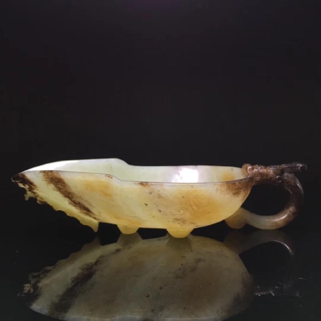 HETIAN JADE DRAGON HANDLE DECORATION