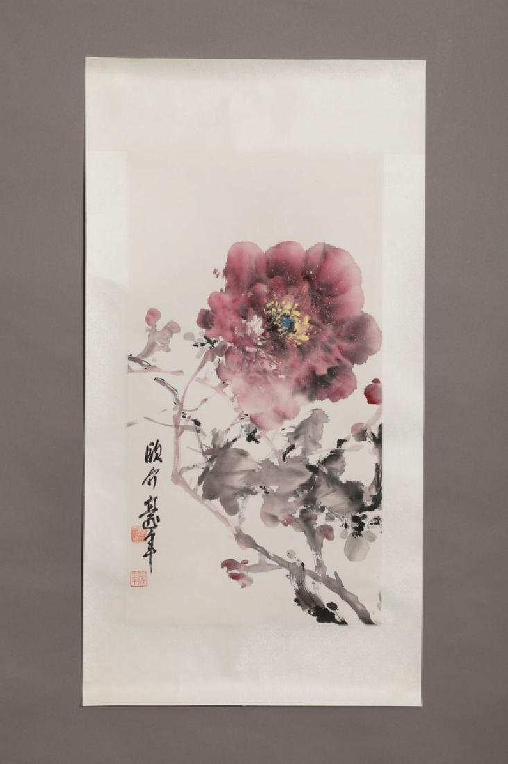 OU HAONIAN STYLE PEONY PAINTING