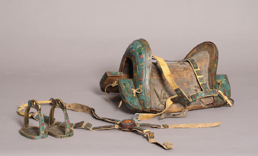 CLOISONNE RIDING SADDLE (A GROUP)