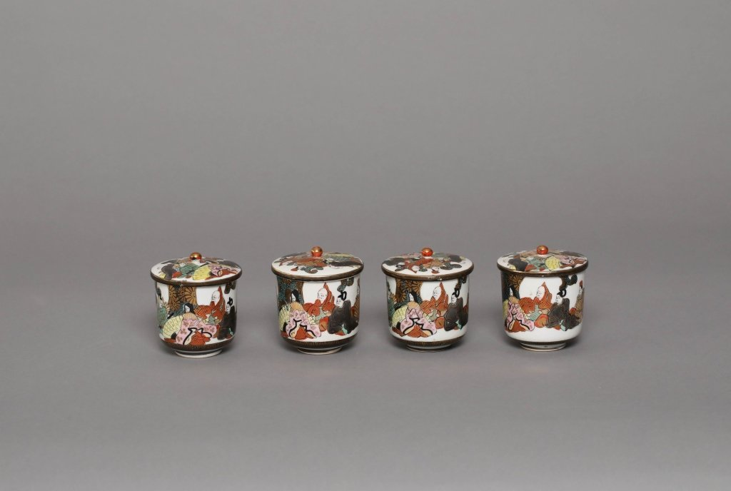 A GROUP OF JAPANESE CUPS