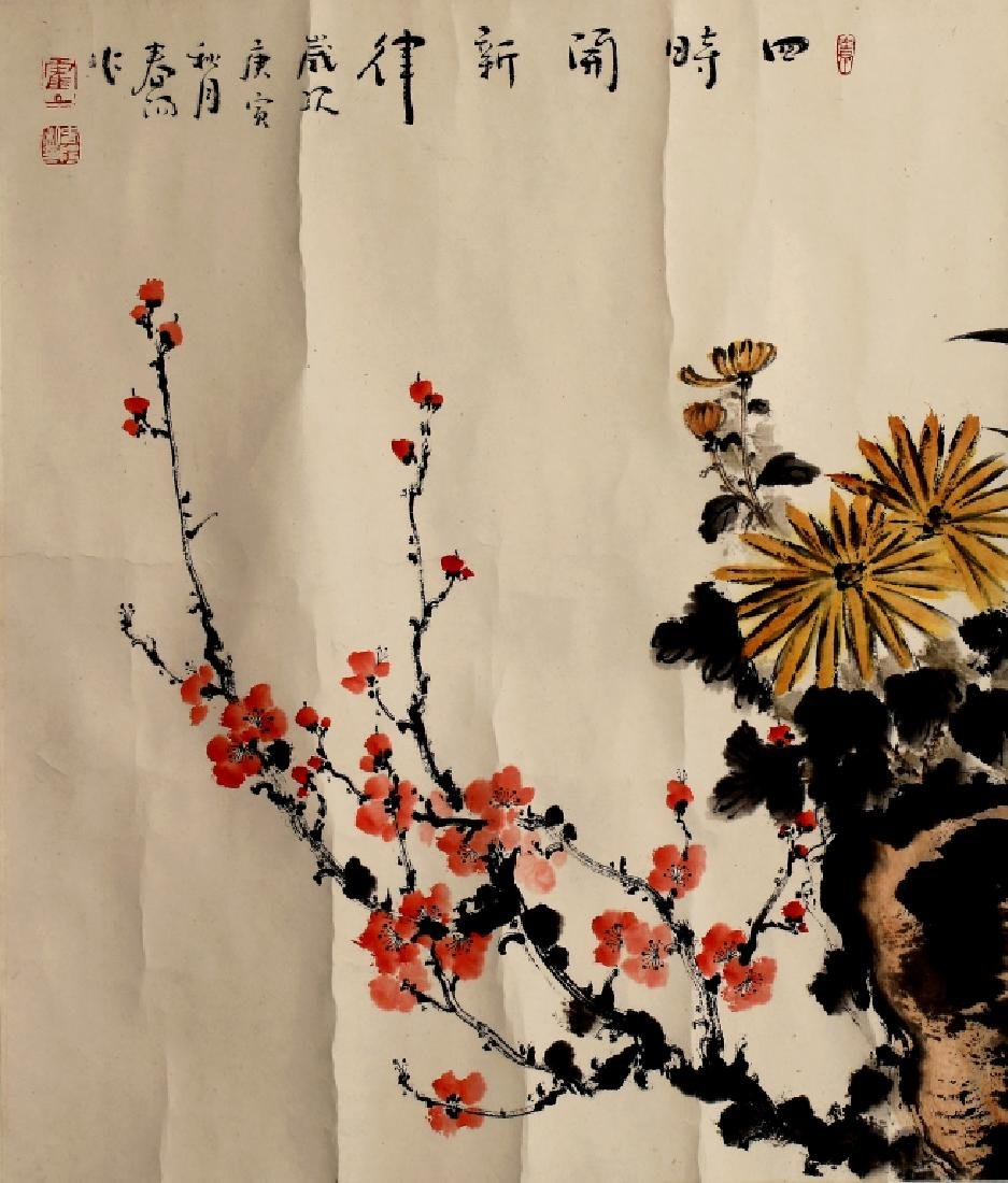 PLUM FLOWER PAINTING - 4