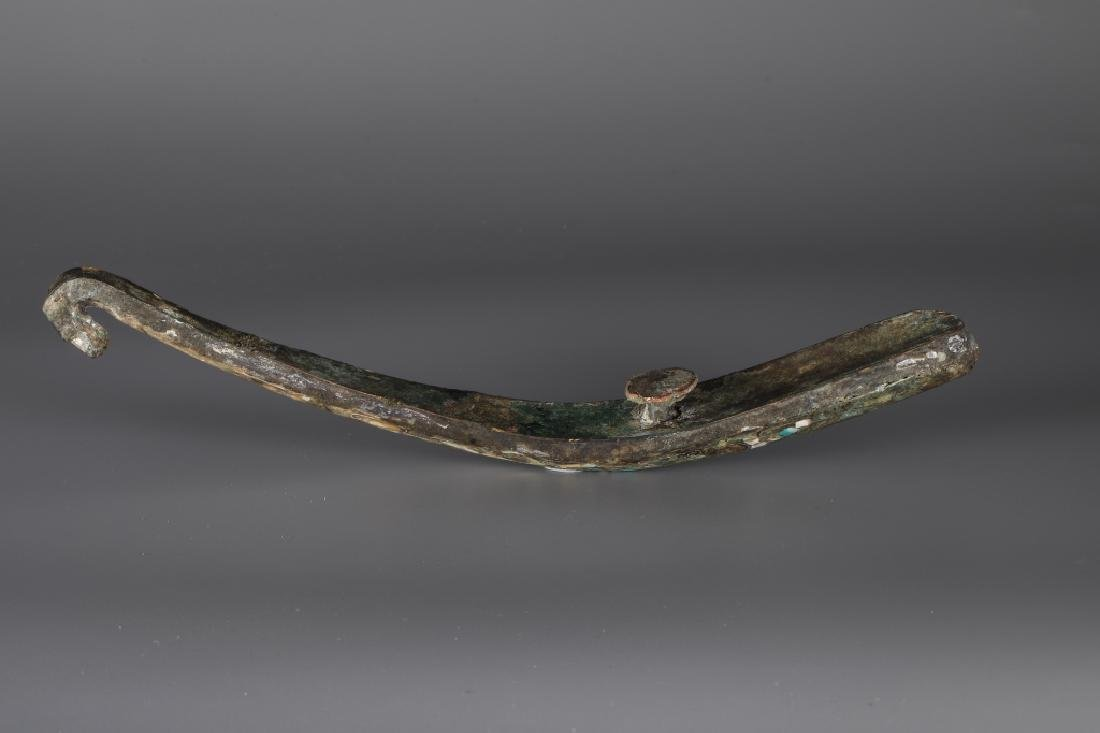BRONZE GOLD AND SILVER PLATING INLAY TURQUOISE HOOK,HAN - 10