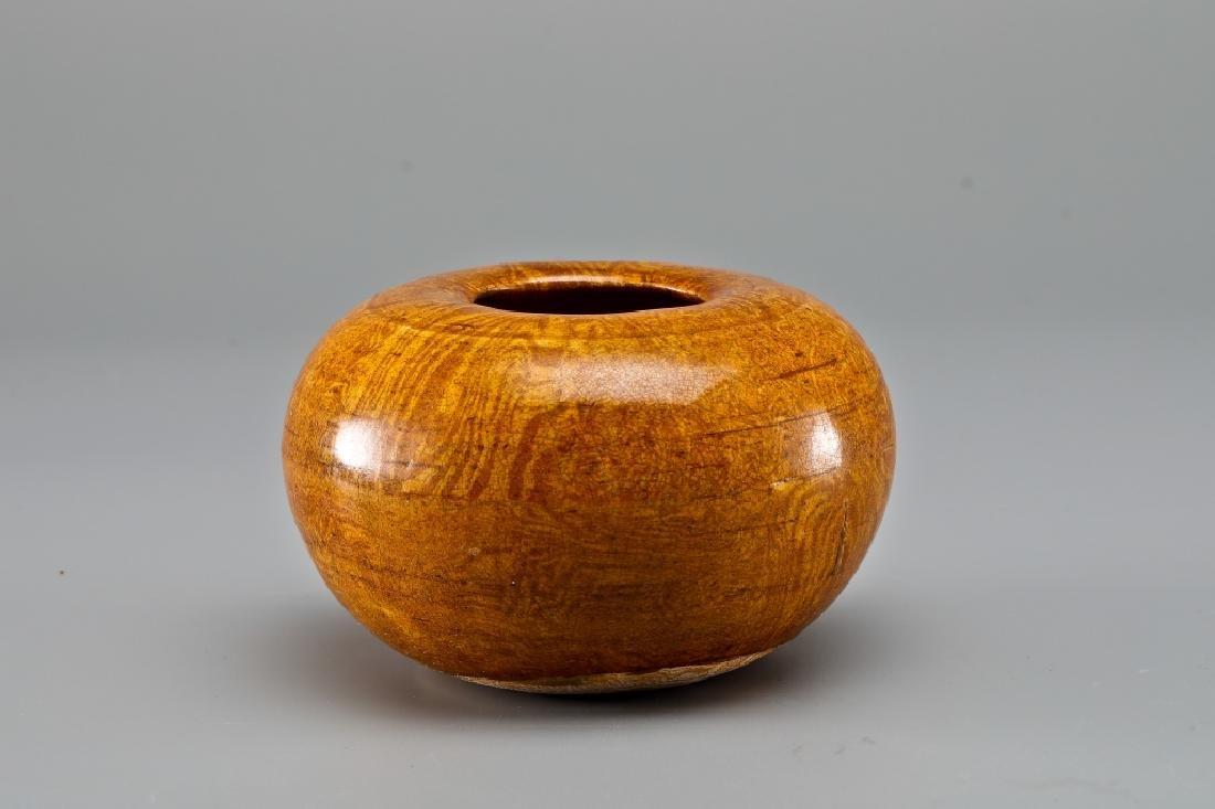 YELLOW GLAZE TEA BASIN - 2