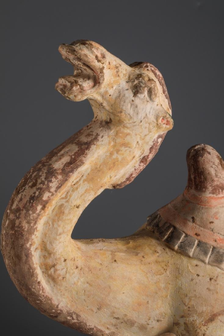 WHITE POTTERY COLOR PAINTING CAMEL STATUE (ONE CAMEL) - 2