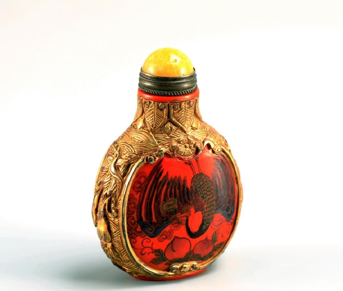 GLASSWARE SNUFF BOTTLE - 7