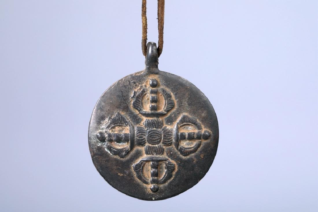 BRONZE EIGHT DIAGRAMS AMULET - 6