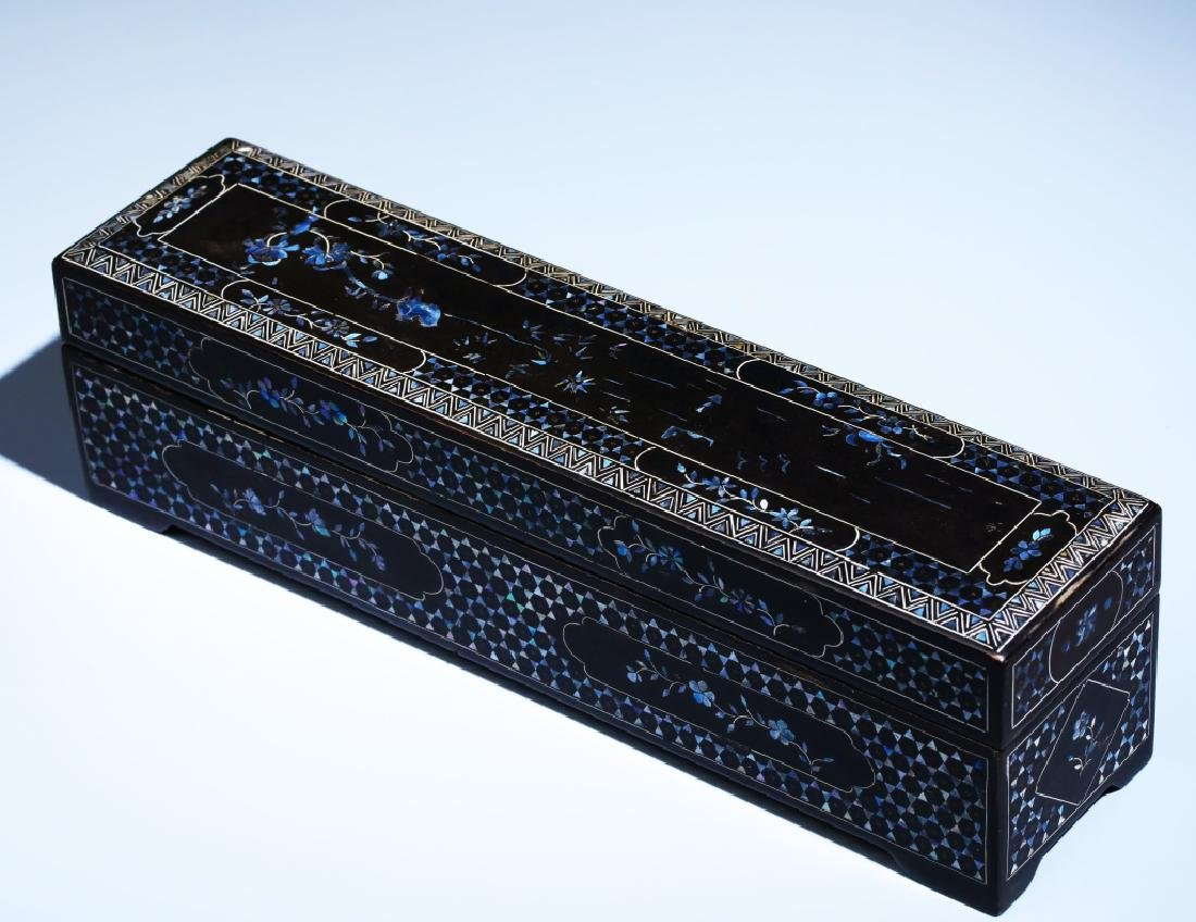 MOTHER OF PEARL INLAID BOX - 2