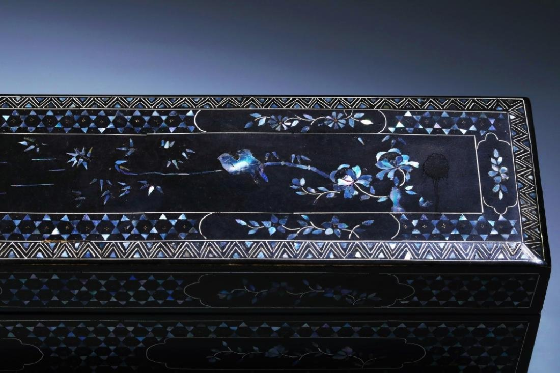 MOTHER OF PEARL INLAID BOX - 4