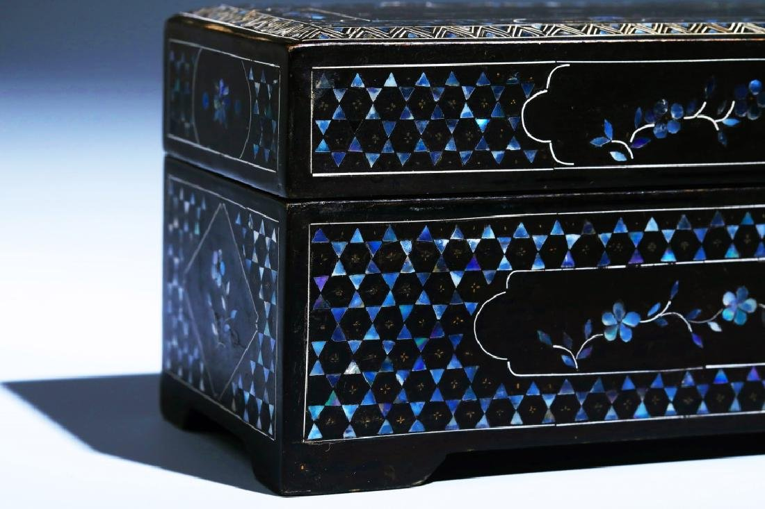MOTHER OF PEARL INLAID BOX - 5