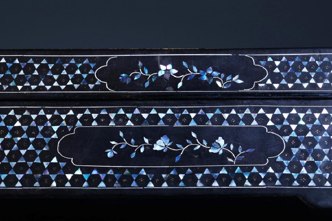 MOTHER OF PEARL INLAID BOX - 6
