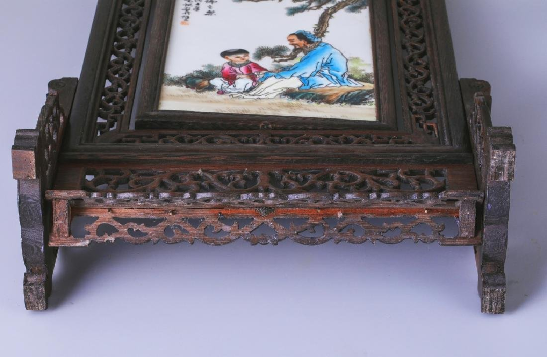 DOOR FRAME PORCELAIN PLATE INLAID TABLE PLAQUE - 8