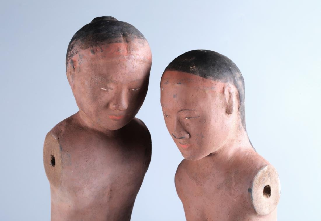 RED POTTERY CHARACTER FIGURE (PAIR) - 10