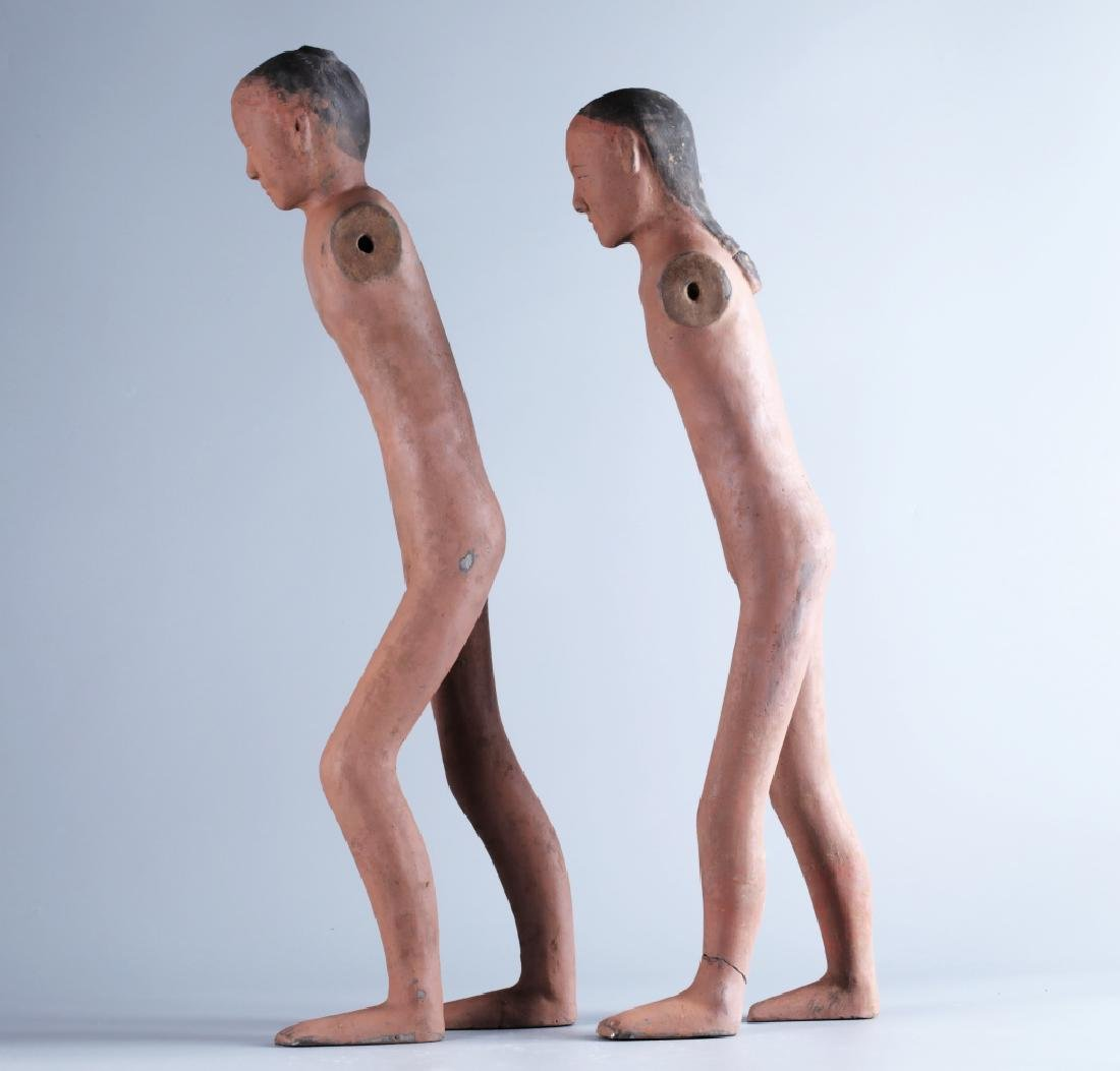 RED POTTERY CHARACTER FIGURE (PAIR) - 5