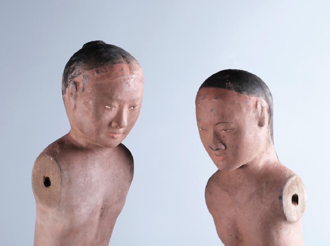 RED POTTERY CHARACTER FIGURE (PAIR) - 7