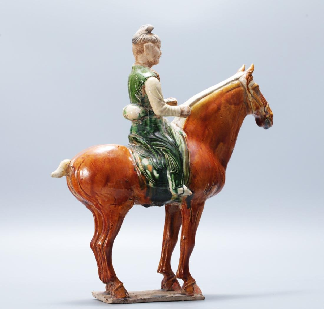 Tang Dynasty tri-colors tomb horse statue - 3
