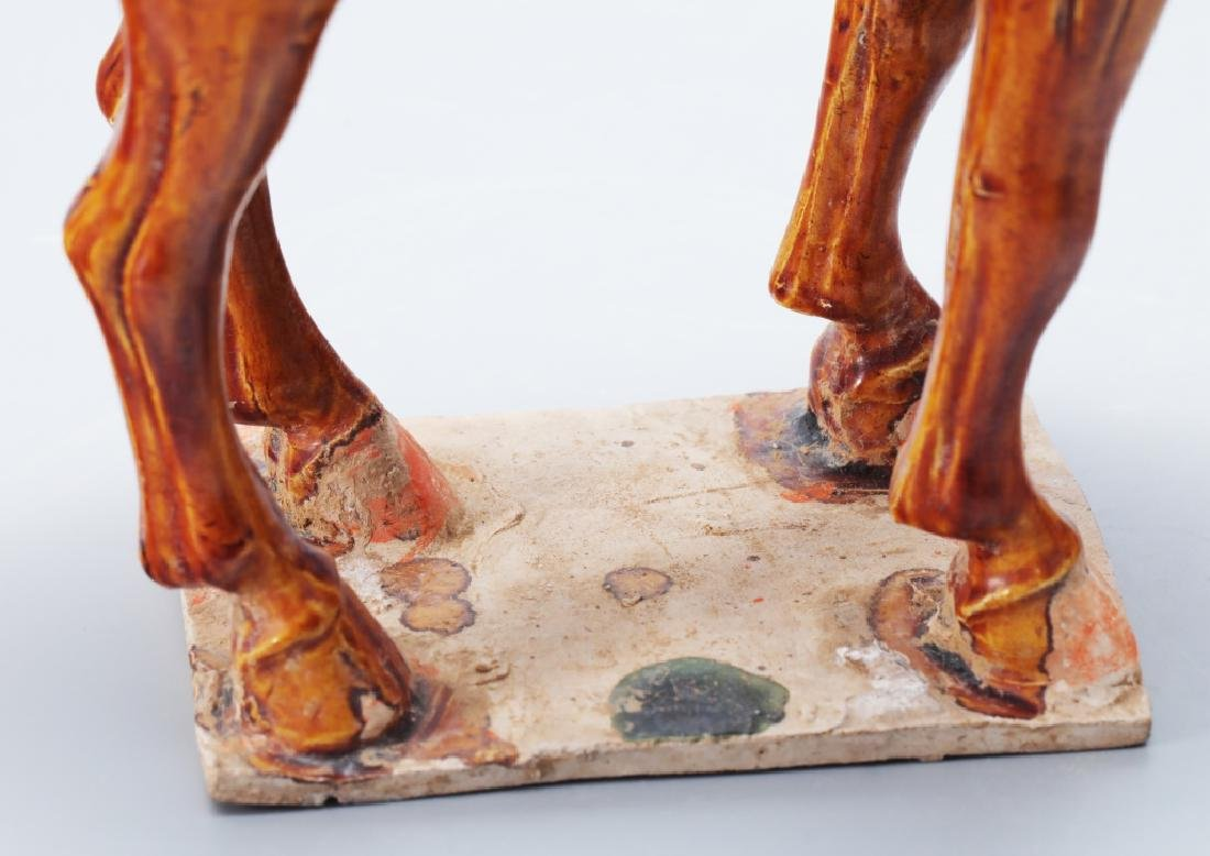 Tang Dynasty tri-colors tomb horse statue - 4