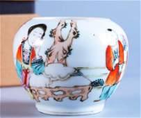 painted porcelain receptacle