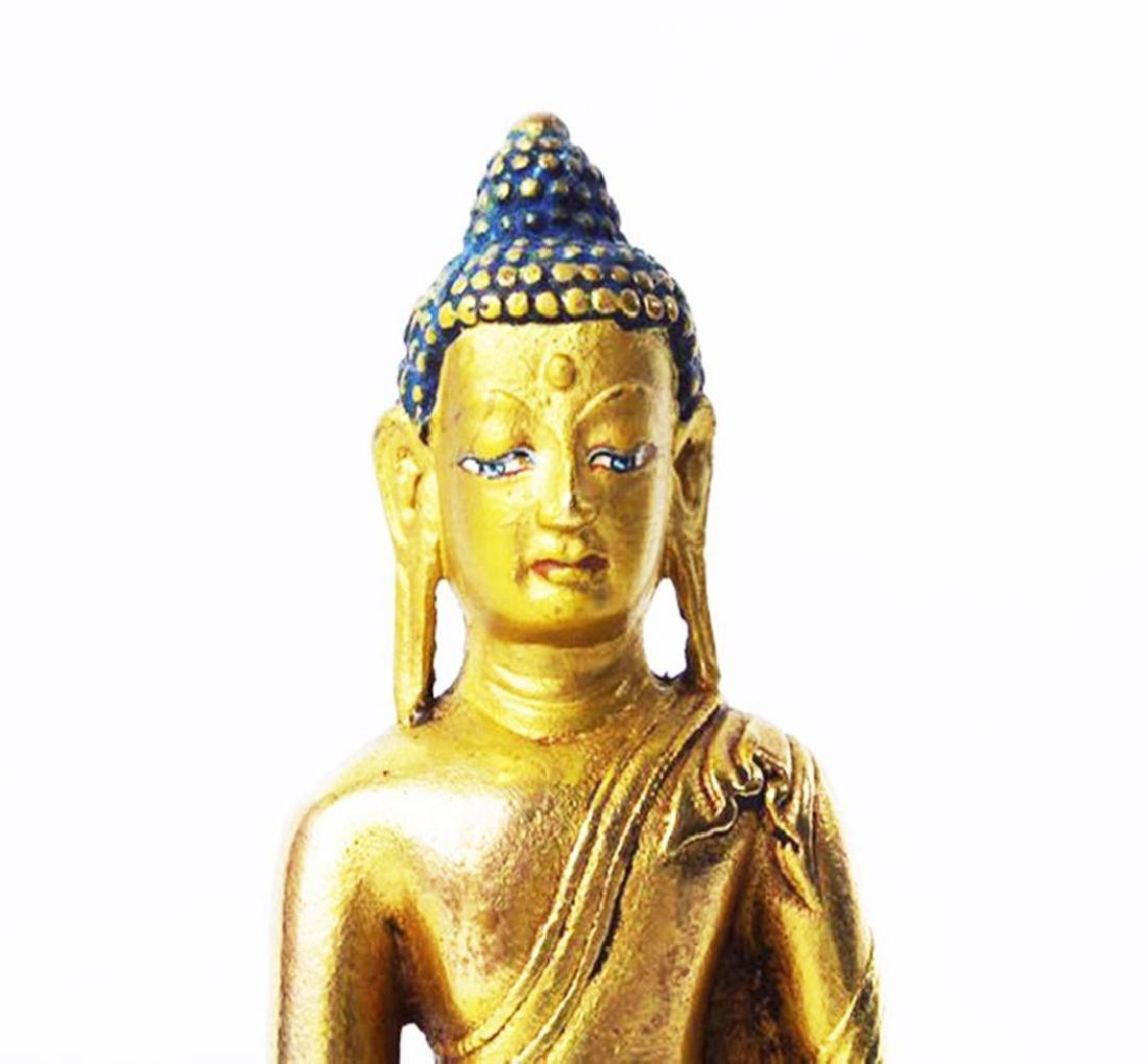 CARVED WOOD GAUTAMA BUDDHA - 10