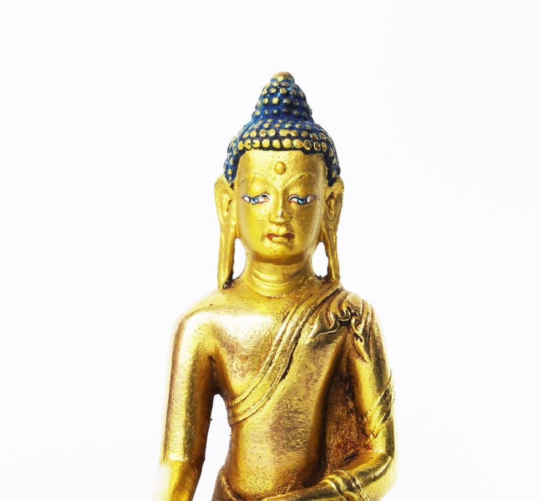 CARVED WOOD GAUTAMA BUDDHA - 2