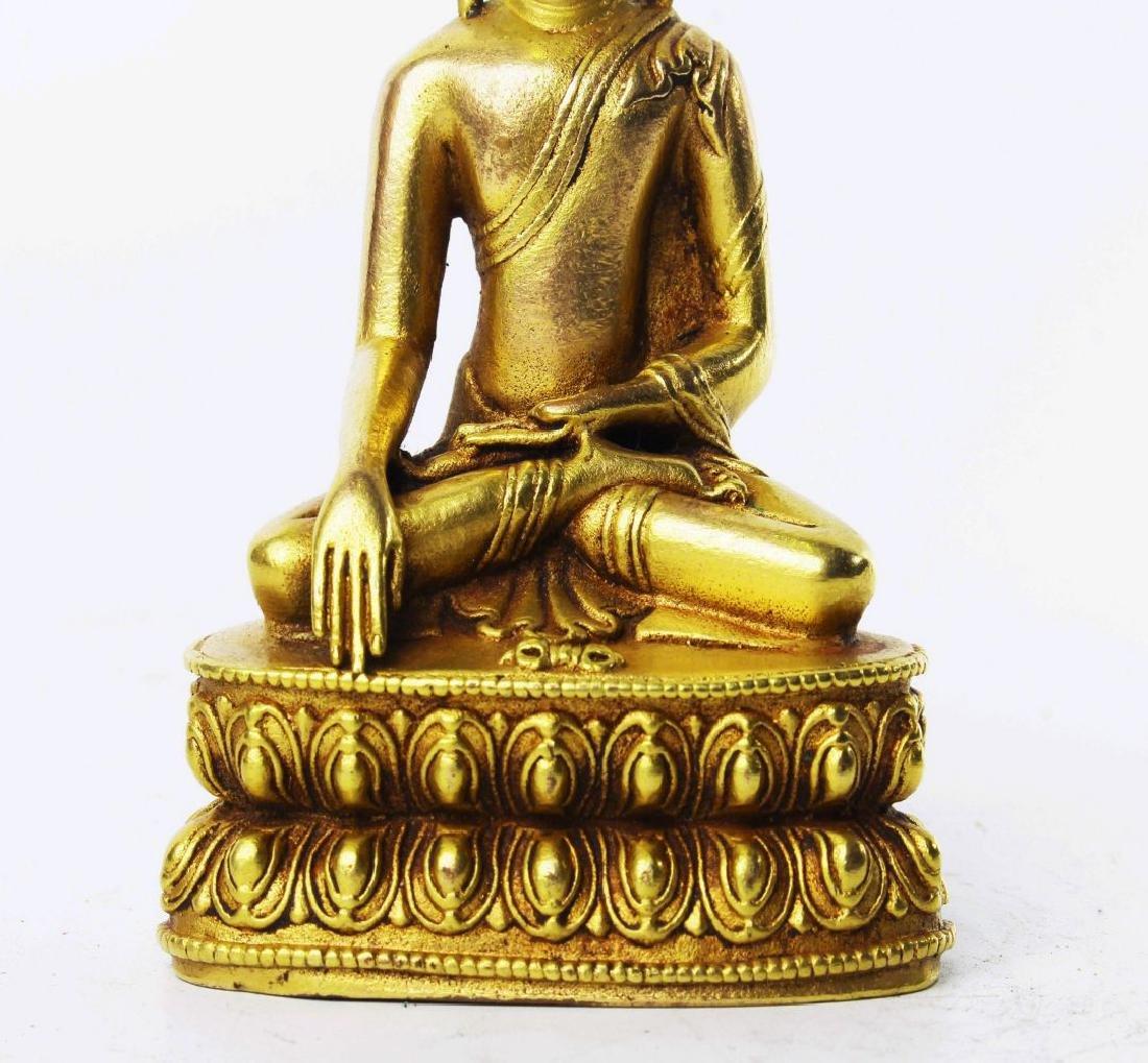 CARVED WOOD GAUTAMA BUDDHA - 3
