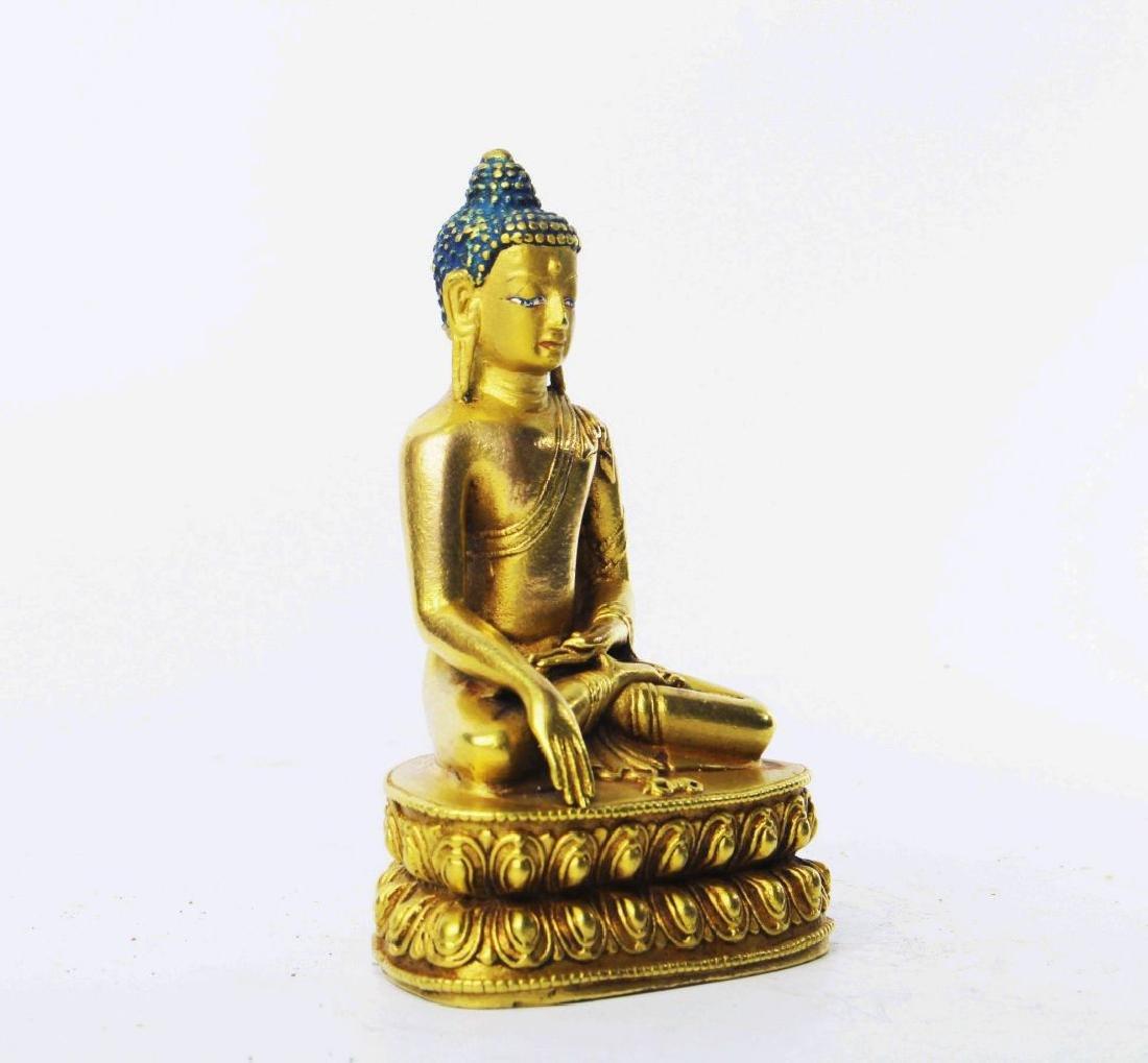 CARVED WOOD GAUTAMA BUDDHA - 4