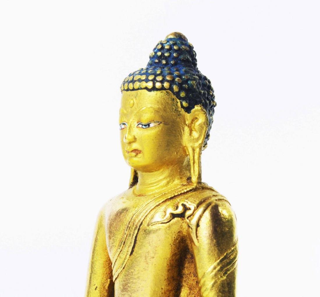 CARVED WOOD GAUTAMA BUDDHA - 8
