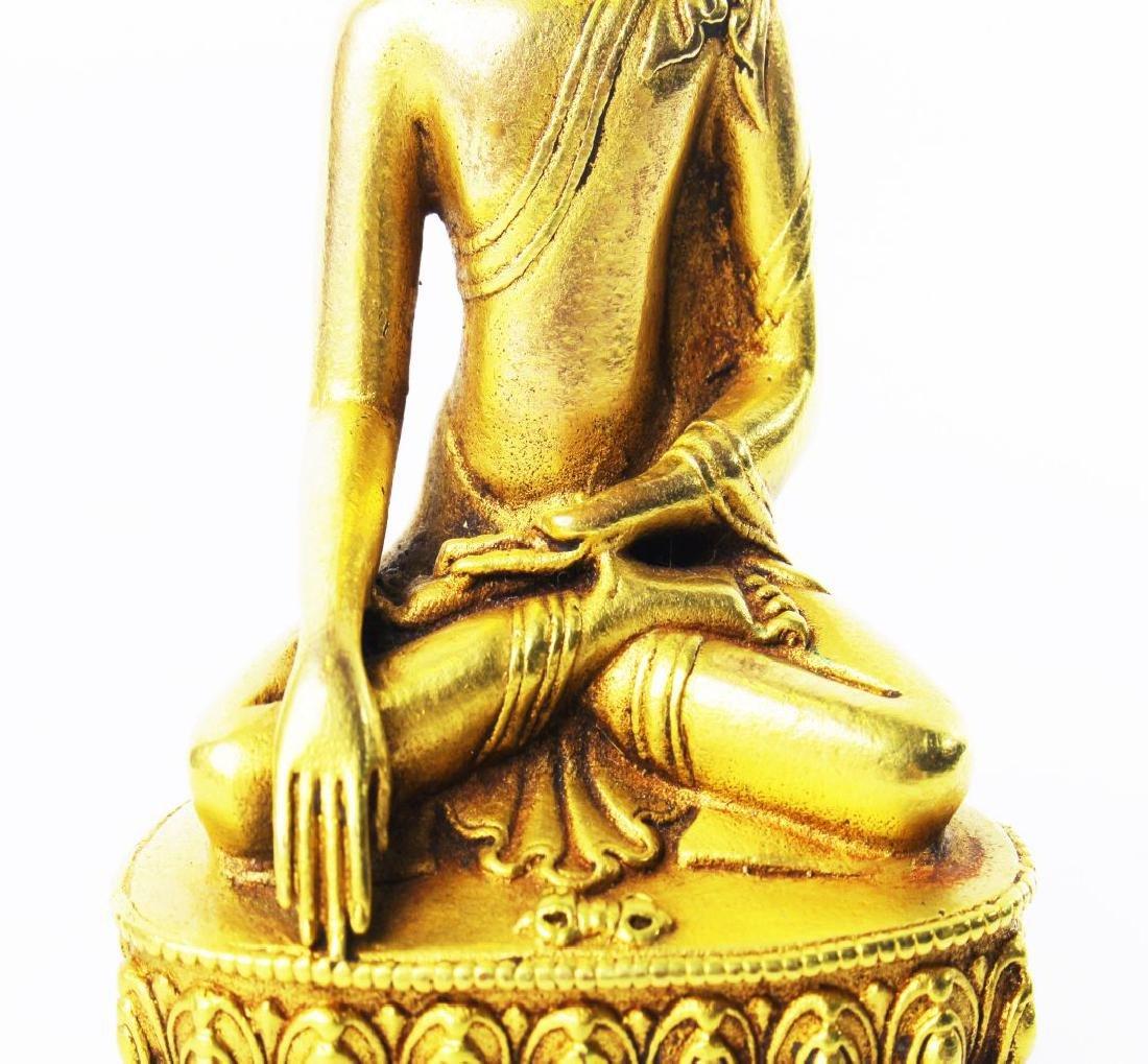 CARVED WOOD GAUTAMA BUDDHA - 9