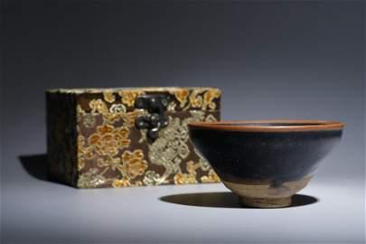 A Jian Kiln Black-Glazed Bowl