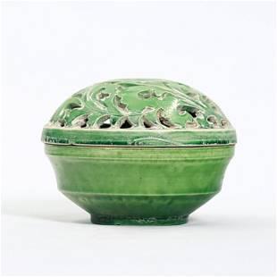 Dang Yang Yu Jacquard Hollow Incent Burner in Green