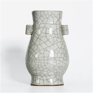 Official Kiln Ge Glazed Bottle with Tall Ear