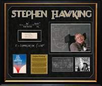 STEPHEN HAWKING - Rare original signature from early