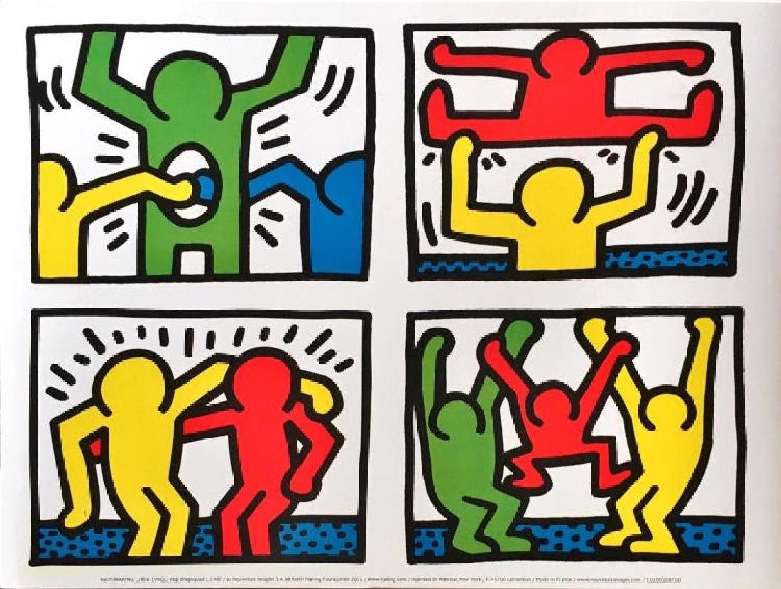 KEITH HARING Set - (after) 'Pop Shop Quad/I' two Very