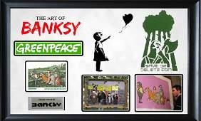 BANKSY - Greenpeace 'Save or Delete' campaign original