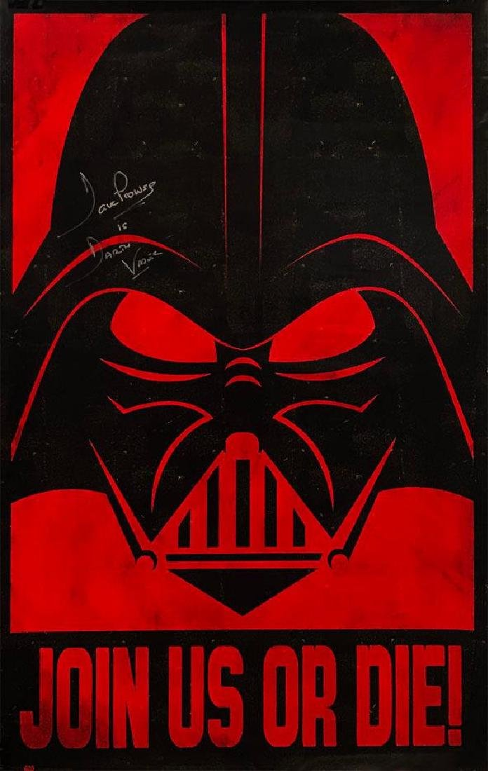 """""""STAR WARS-DARTH VADER"""" Dave Prowse """"Join Us Or Die"""""""