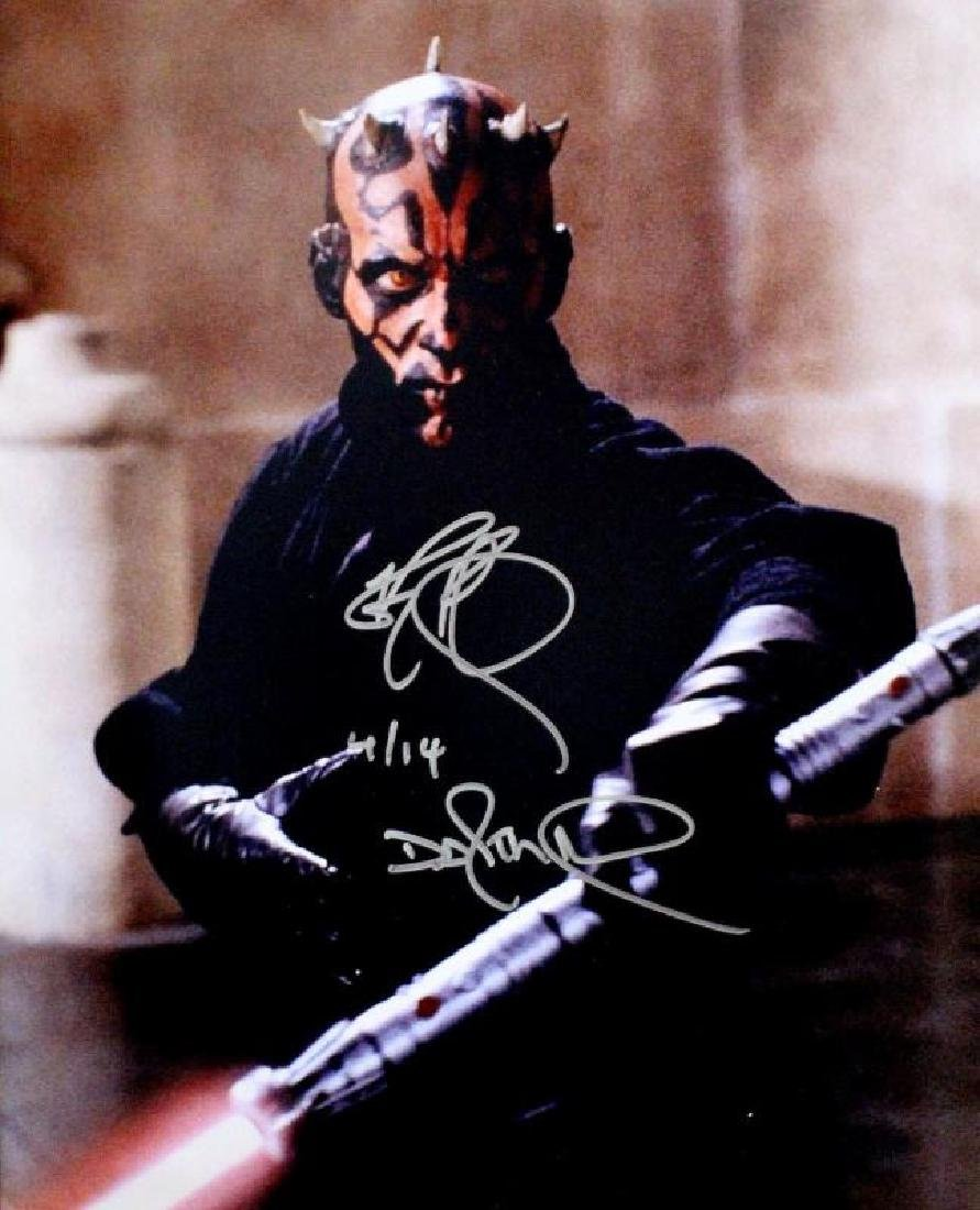 """STAR WARS-DARTH MAUL"" - Awesome 16x20 signed by Ray"