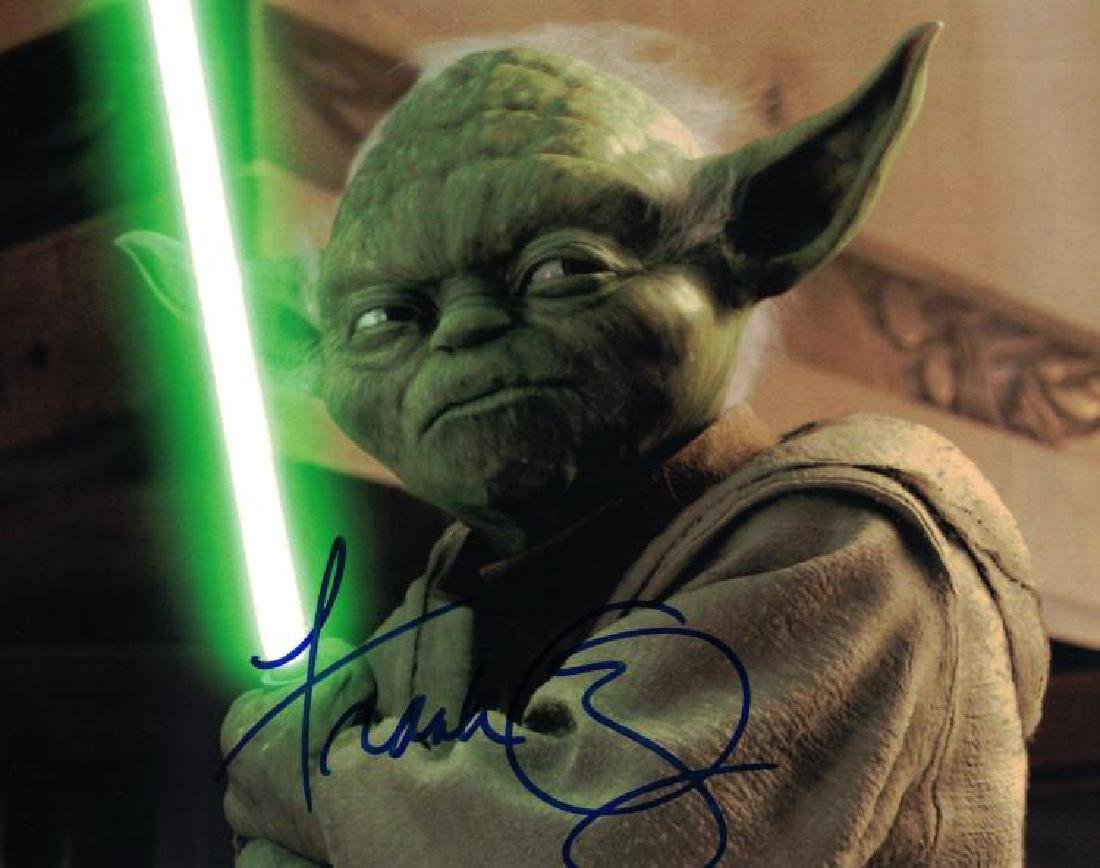 """STAR WARS: Revenge of the Sith"" Frank Oz YODA signed"