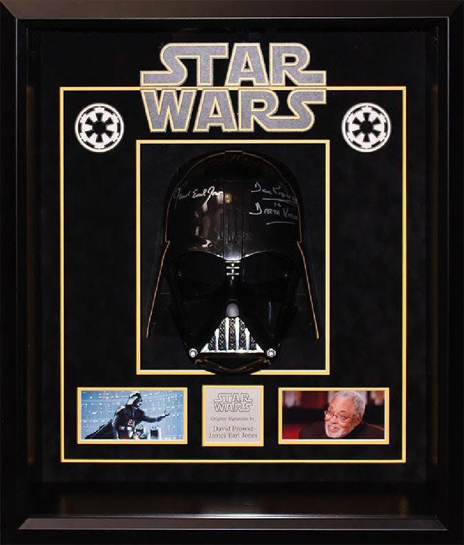 """""""STAR WARS"""" - 'Darth Vader' signed HELMET Shadow-Box"""