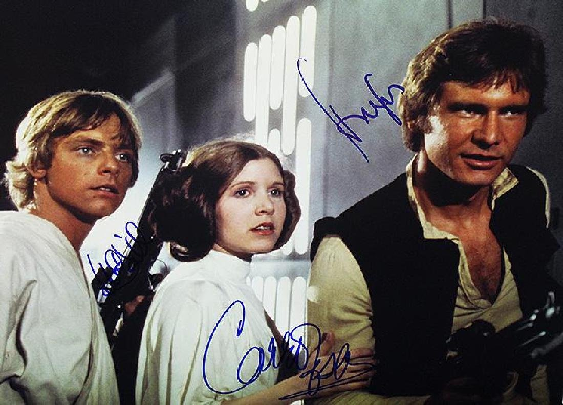 """""""STAR WARS: A New Hope"""" THIS IS THE SIGNED PHOTO TO"""