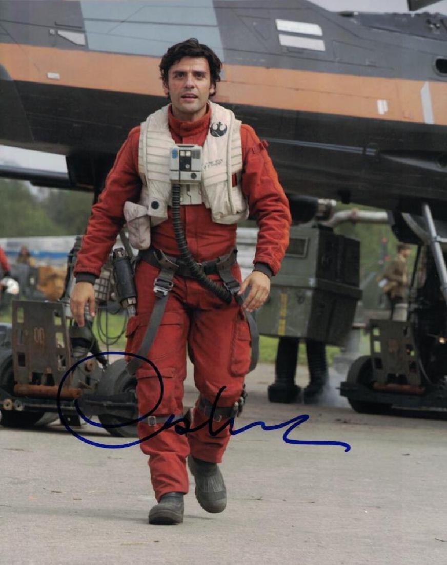 """""""STAR WARS: The Force Awakens"""" 'Poe' signed photo by"""